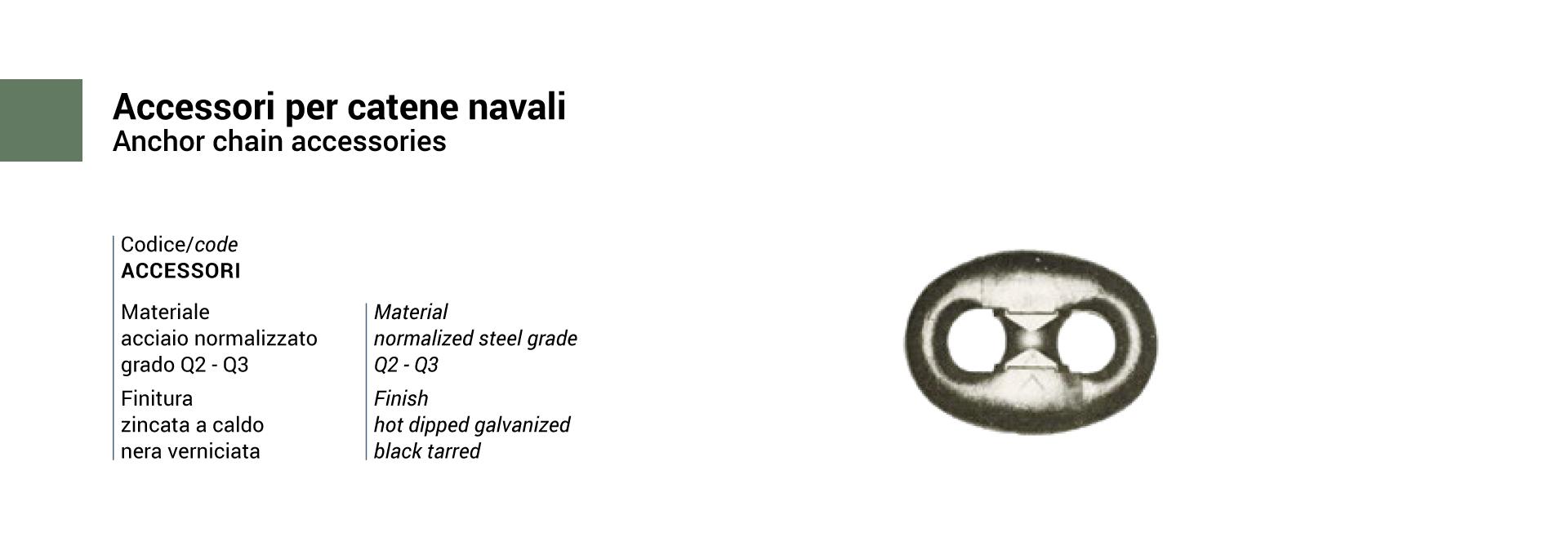 Italmet Accessori per catene navali